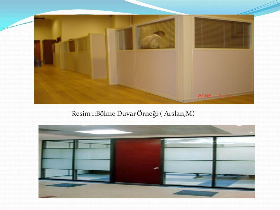 Resim 1:Bölme Duvar Örneği ( Arslan,M)