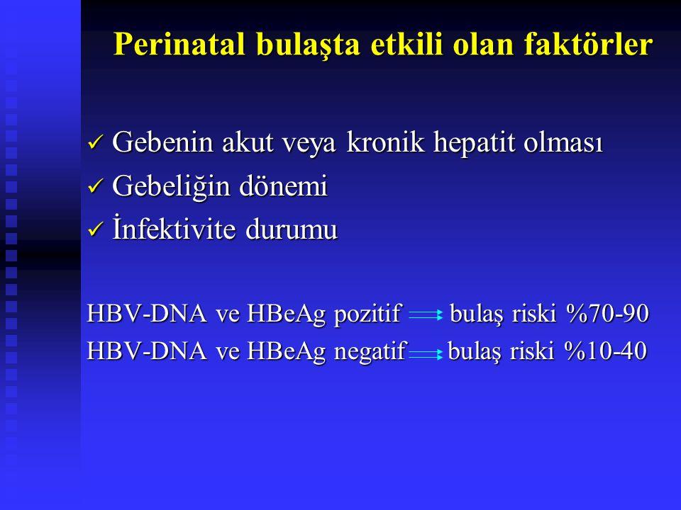 Perinatal bulaşta etkili olan faktörler