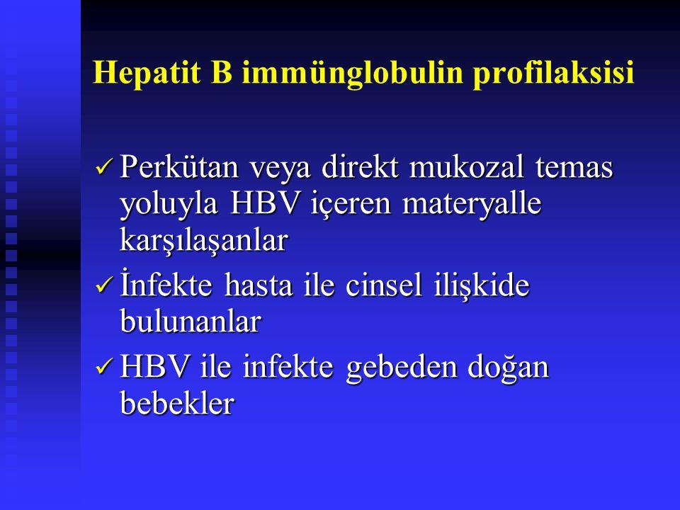 Hepatit B immünglobulin profilaksisi