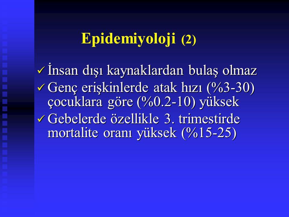 Epidemiyoloji (2) İnsan dışı kaynaklardan bulaş olmaz
