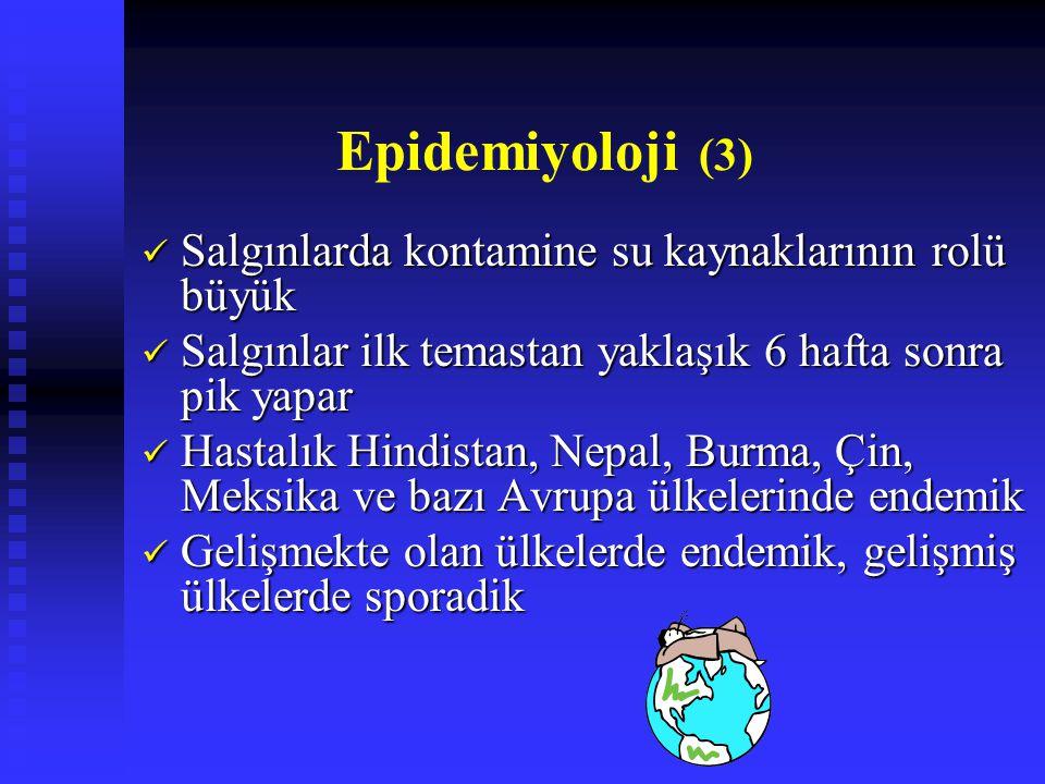 Epidemiyoloji (3) Salgınlarda kontamine su kaynaklarının rolü büyük