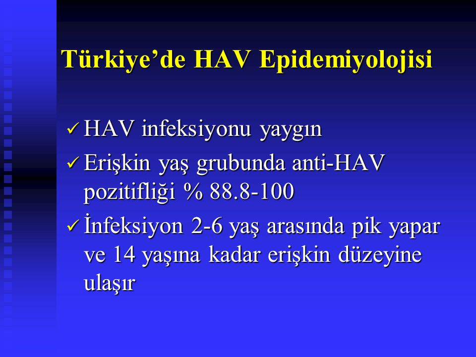 Türkiye'de HAV Epidemiyolojisi