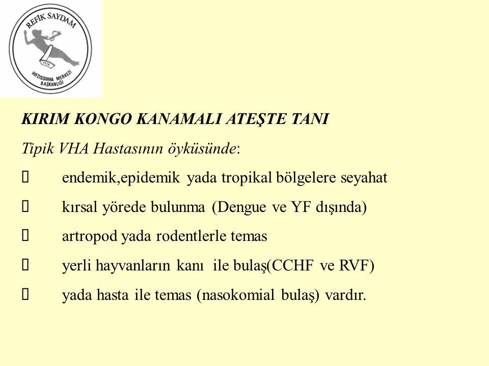 KIRIM KONGO KANAMALI ATEŞTE TANI
