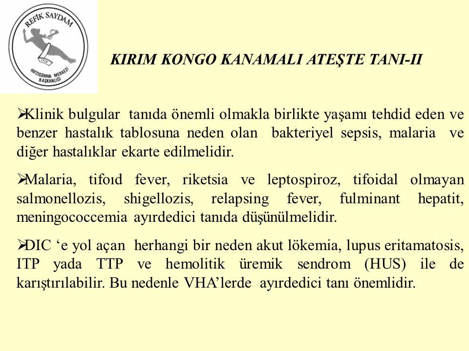 KIRIM KONGO KANAMALI ATEŞTE TANI-II