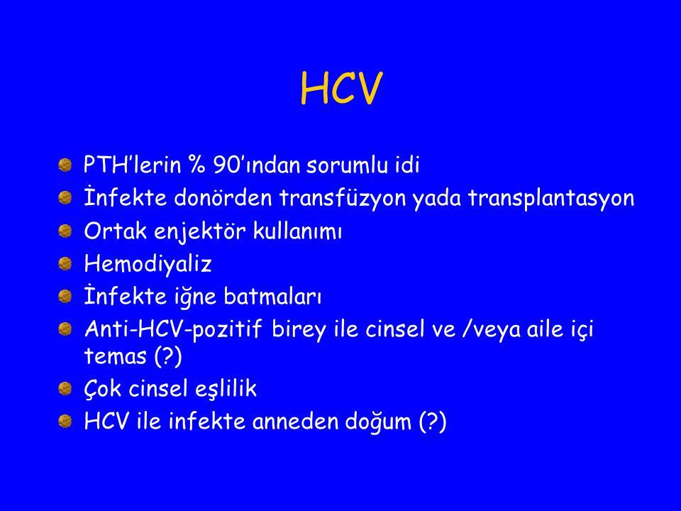 HCV PTH'lerin % 90'ından sorumlu idi