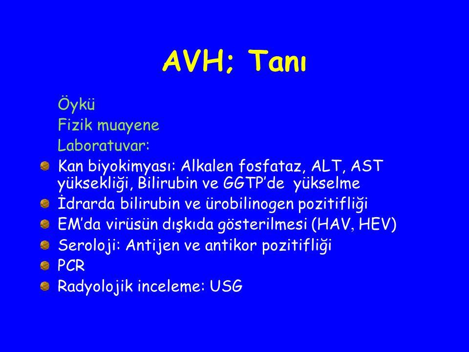 AVH; Tanı Öykü Fizik muayene Laboratuvar: