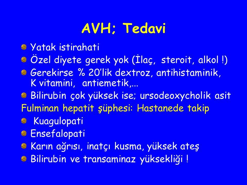 AVH; Tedavi Yatak istirahati