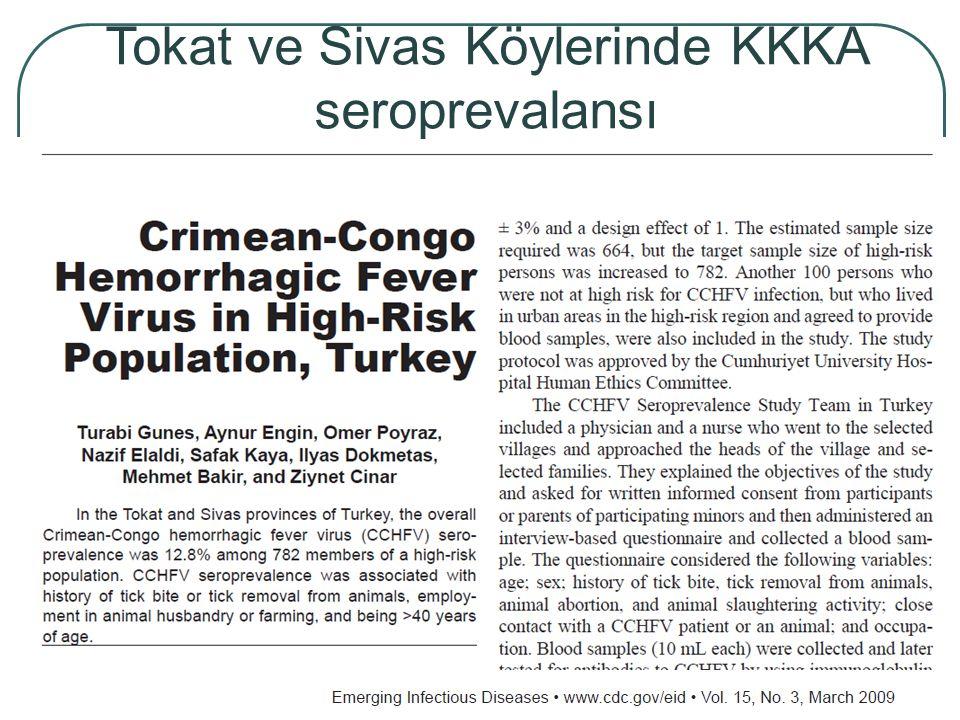 Tokat ve Sivas Köylerinde KKKA seroprevalansı