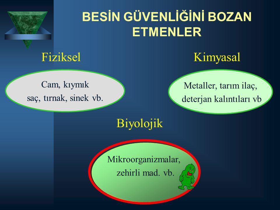 BESİN GÜVENLİĞİNİ BOZAN ETMENLER