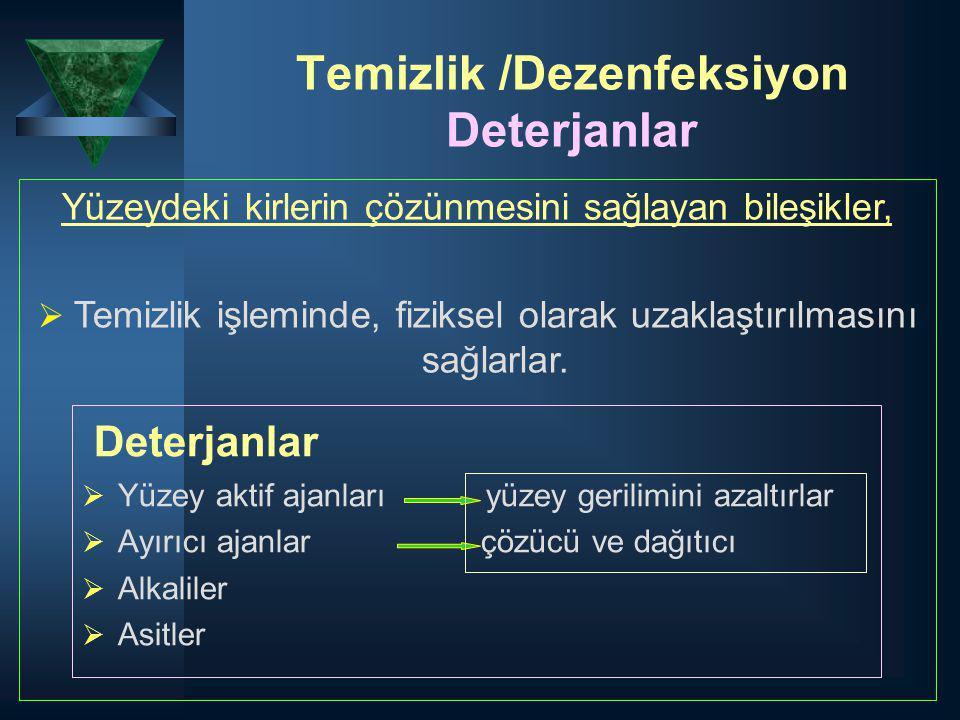 Temizlik /Dezenfeksiyon Deterjanlar