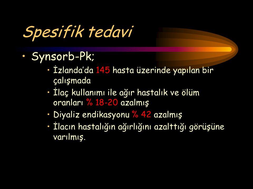 Spesifik tedavi Synsorb-Pk;