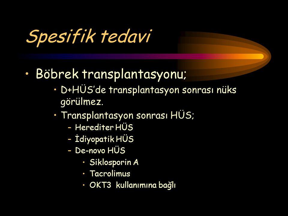 Spesifik tedavi Böbrek transplantasyonu;