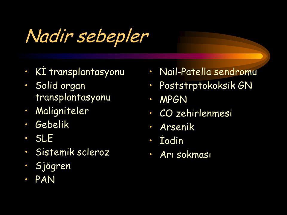 Nadir sebepler Kİ transplantasyonu Solid organ transplantasyonu
