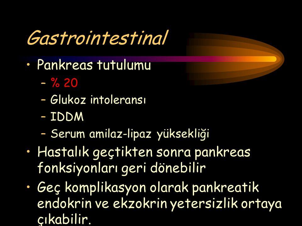 Gastrointestinal Pankreas tutulumu