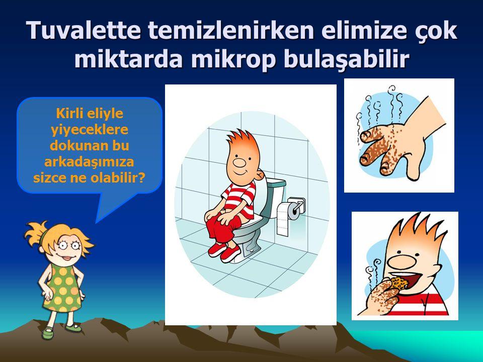 Tuvalette temizlenirken elimize çok miktarda mikrop bulaşabilir