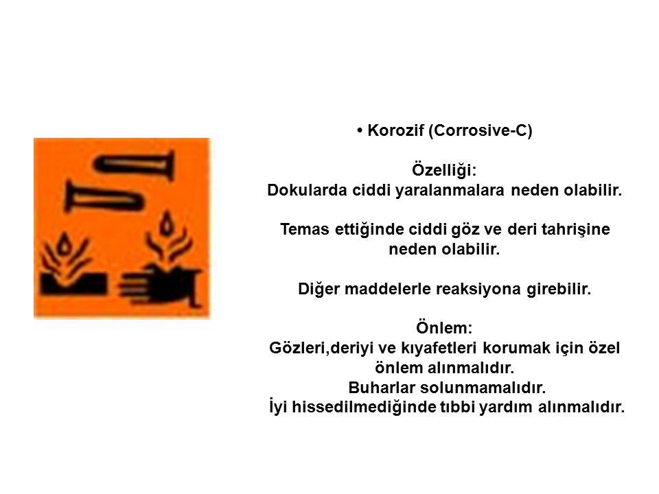 • Korozif (Corrosive-C) Özelliği: