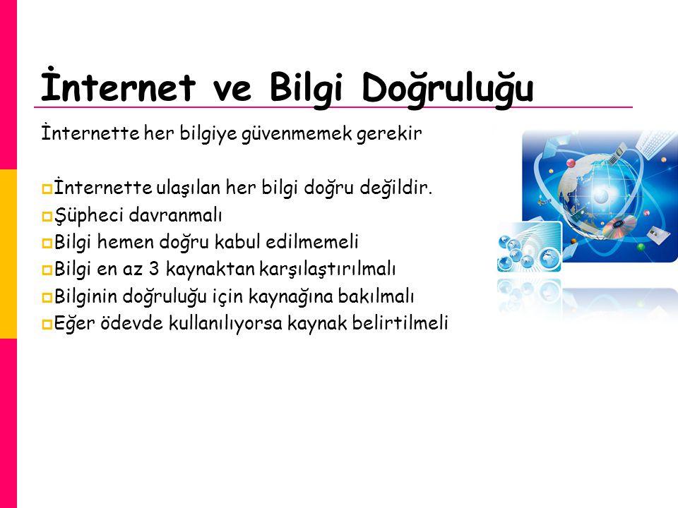 İnternet ve Bilgi Doğruluğu