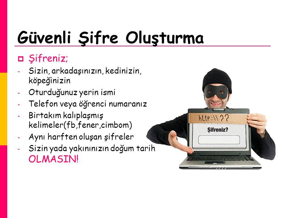 Güvenli Şifre Oluşturma