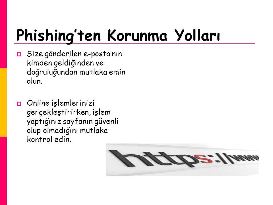 Phishing'ten Korunma Yolları