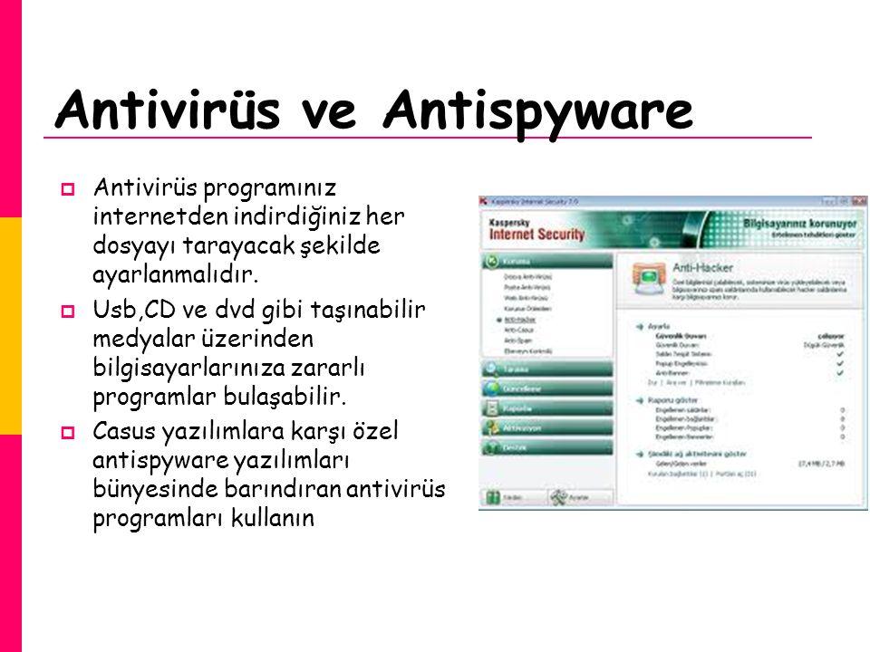 Antivirüs ve Antispyware