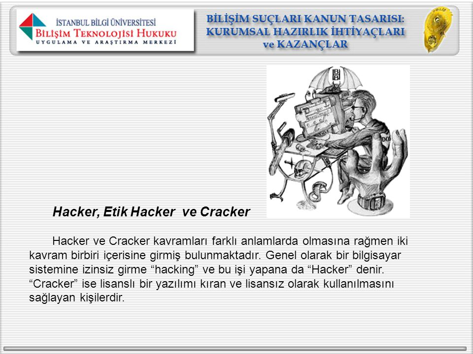 Hacker, Etik Hacker ve Cracker