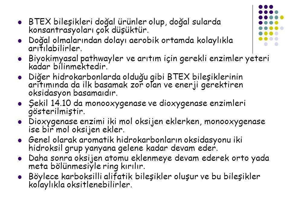 BTEX bileşikleri doğal ürünler olup, doğal sularda konsantrasyoları çok düşüktür.