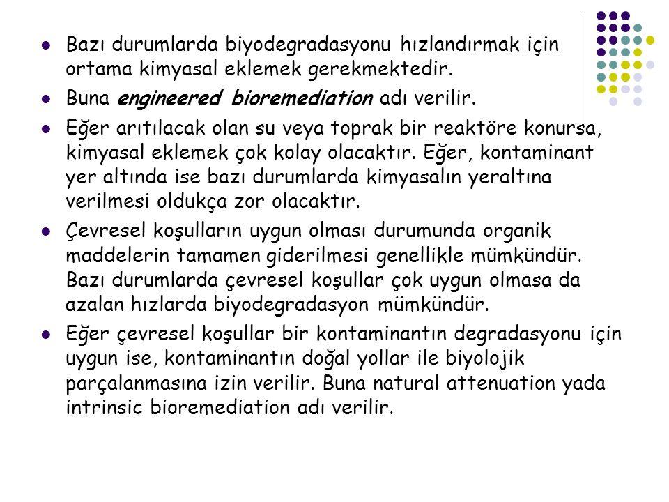 Bazı durumlarda biyodegradasyonu hızlandırmak için ortama kimyasal eklemek gerekmektedir.