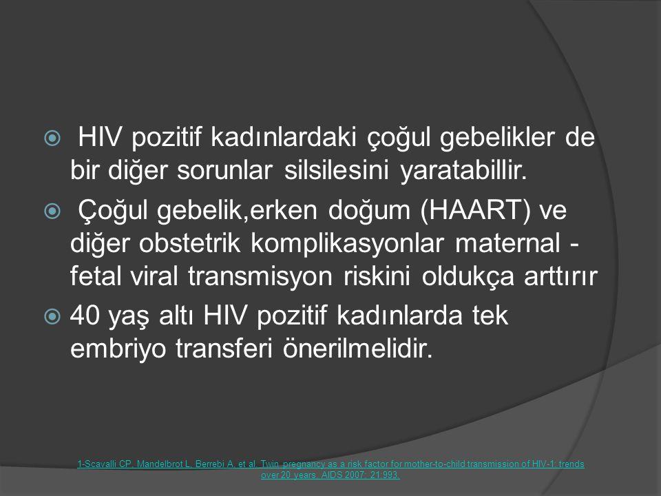 HIV pozitif kadınlardaki çoğul gebelikler de bir diğer sorunlar silsilesini yaratabillir.