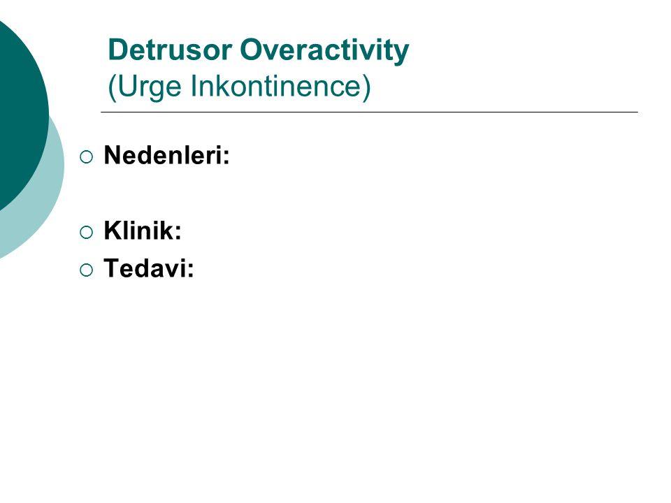 Detrusor Overactivity (Urge Inkontinence)