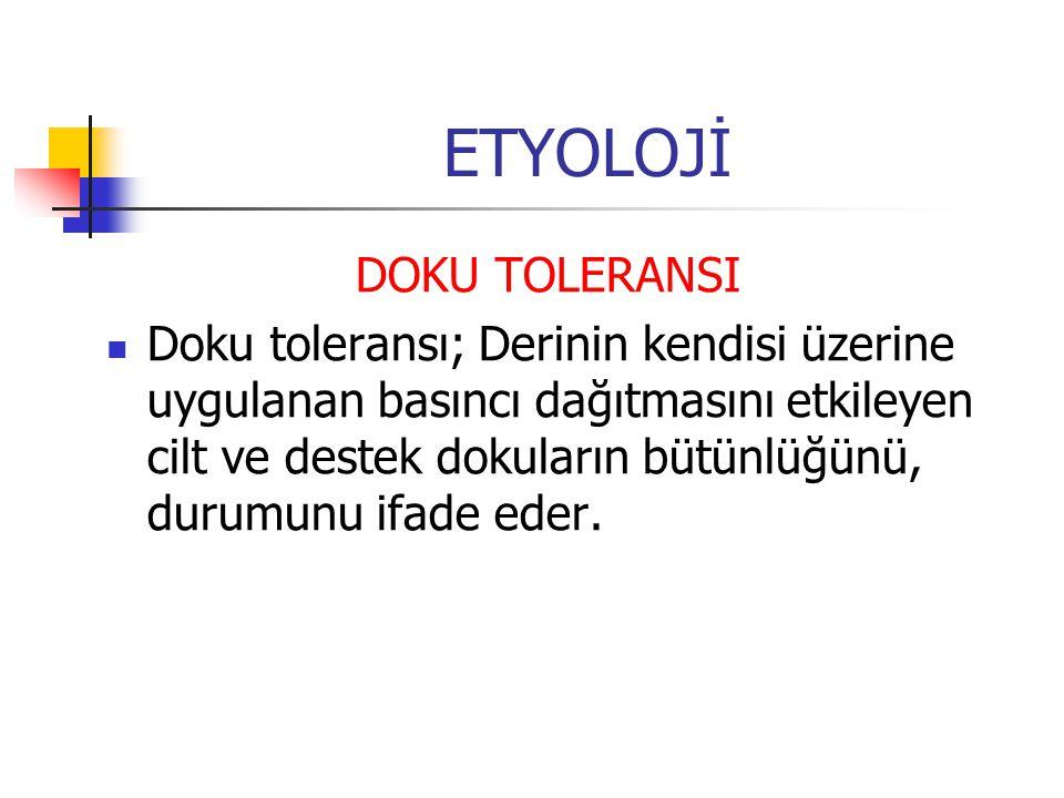 ETYOLOJİ DOKU TOLERANSI