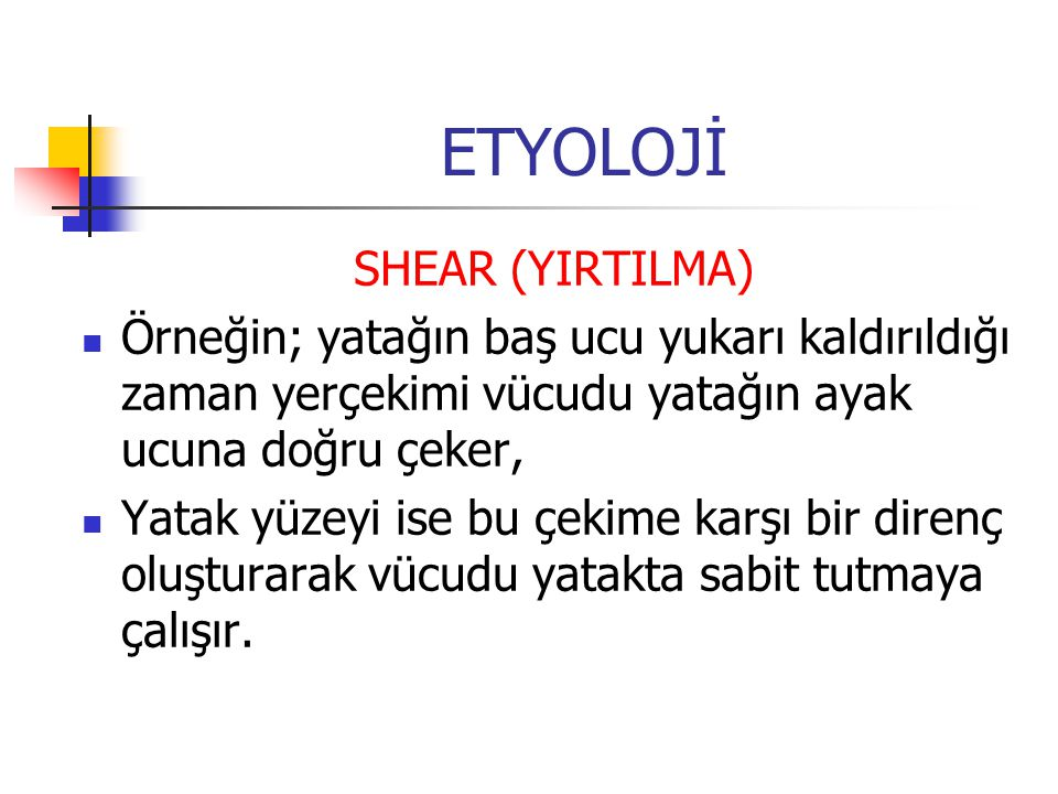 ETYOLOJİ SHEAR (YIRTILMA)