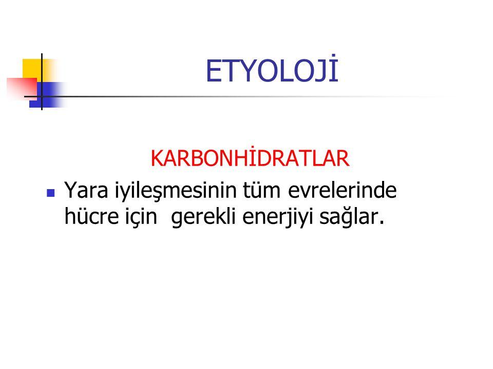 ETYOLOJİ KARBONHİDRATLAR