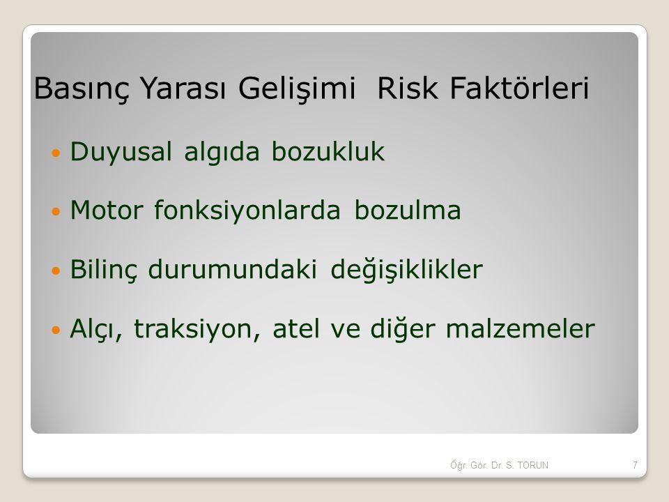 Basınç Yarası Gelişimi Risk Faktörleri