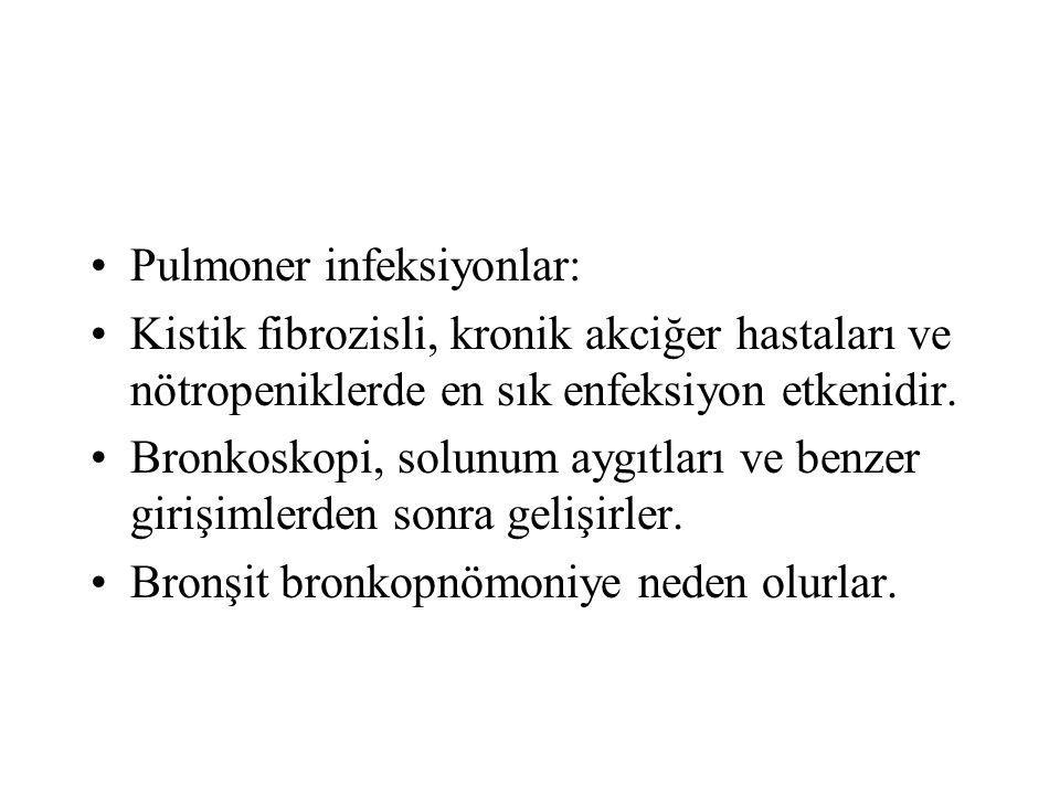 Pulmoner infeksiyonlar: