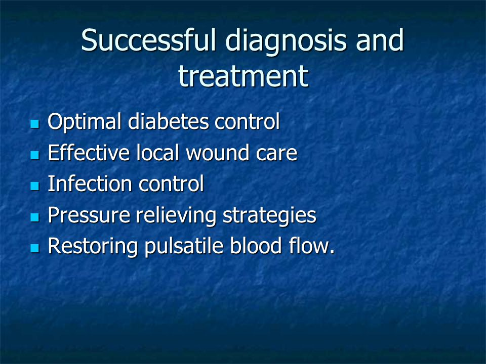 Successful diagnosis and treatment