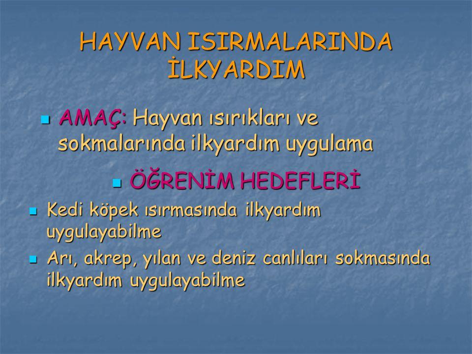HAYVAN ISIRMALARINDA İLKYARDIM