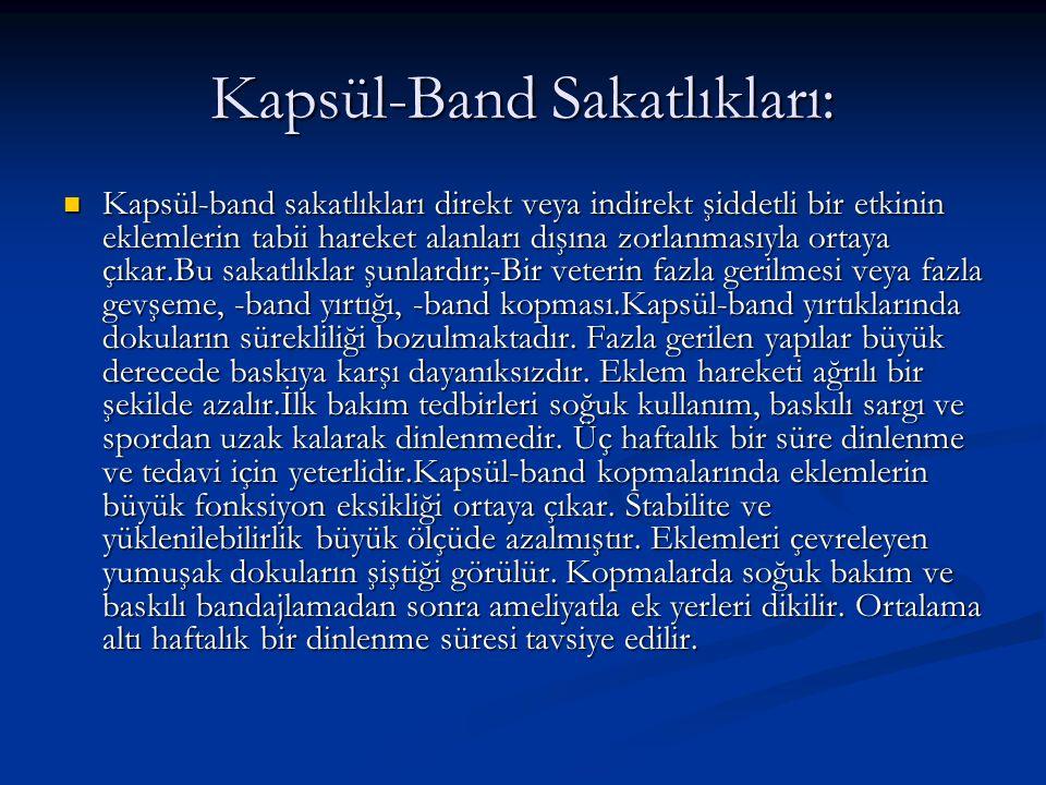 Kapsül-Band Sakatlıkları: