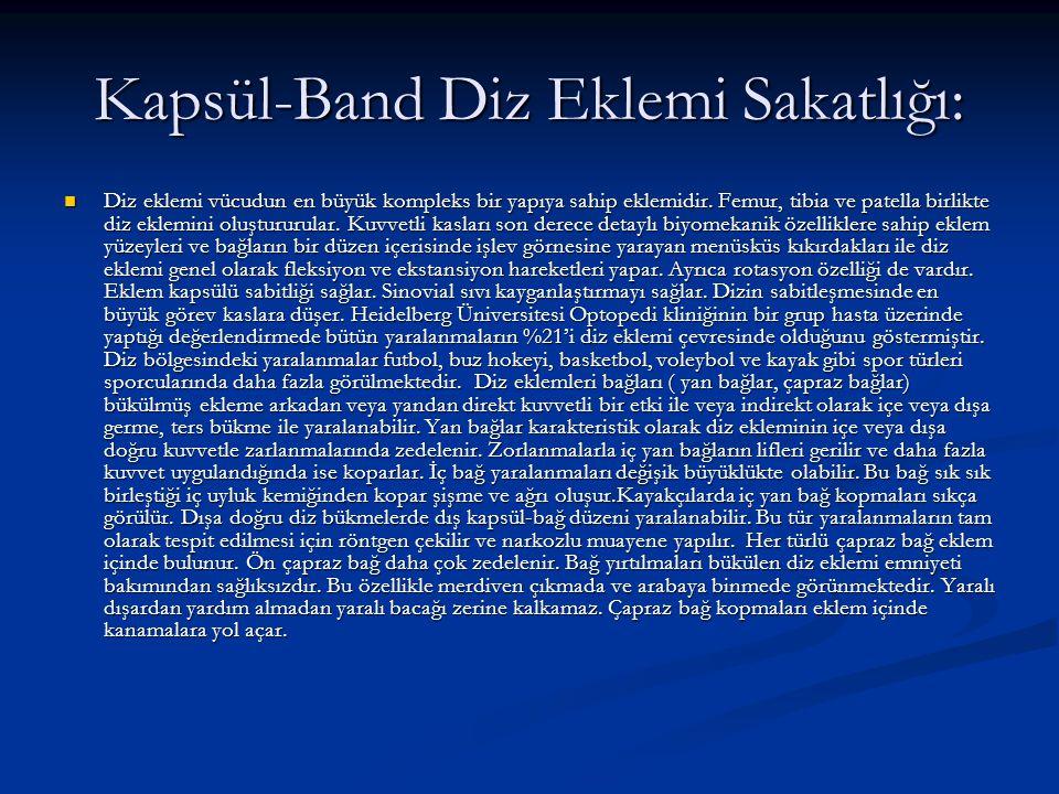 Kapsül-Band Diz Eklemi Sakatlığı: