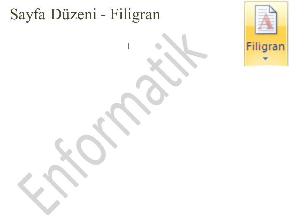 Sayfa Düzeni - Filigran