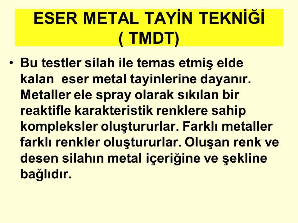 ESER METAL TAYİN TEKNİĞİ ( TMDT)