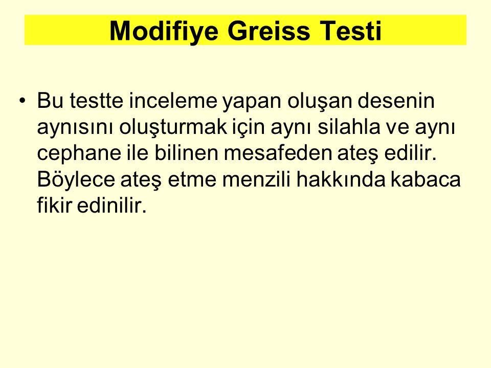Modifiye Greiss Testi