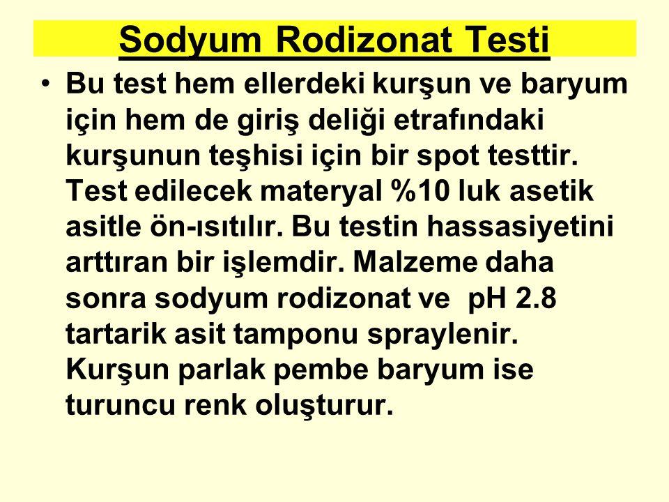 Sodyum Rodizonat Testi