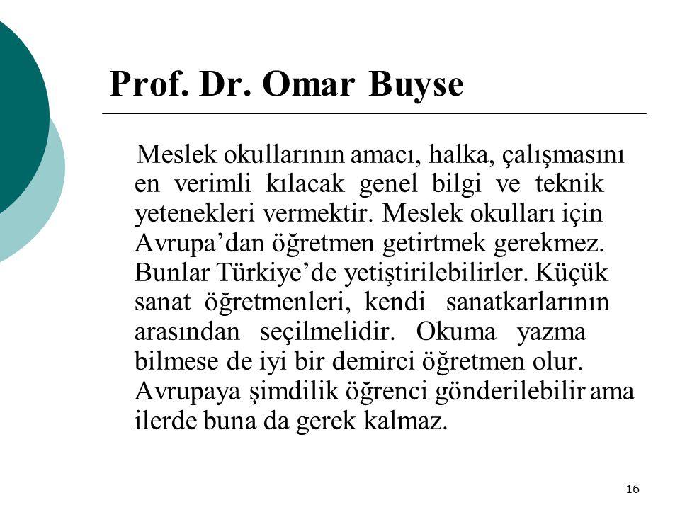 Prof. Dr. Omar Buyse