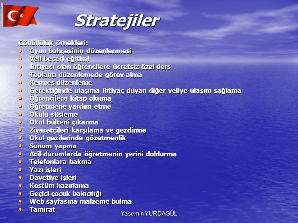 Stratejiler Gönüllülük örnekleri: Oyun bahçesinin düzenlenmesi