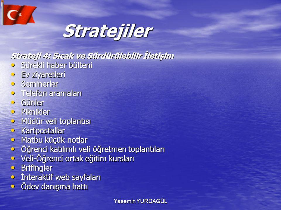 Stratejiler Strateji 4: Sıcak ve Sürdürülebilir İletişim