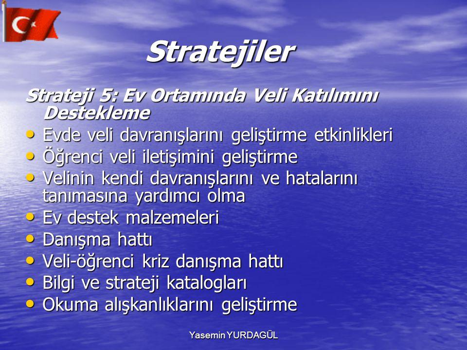 Stratejiler Strateji 5: Ev Ortamında Veli Katılımını Destekleme