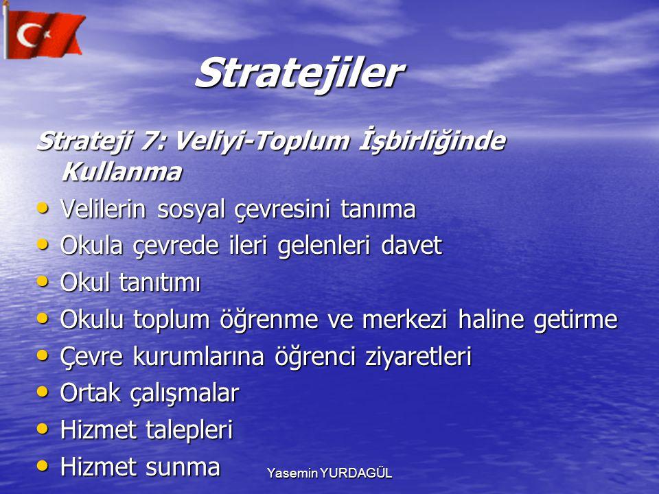 Stratejiler Strateji 7: Veliyi-Toplum İşbirliğinde Kullanma