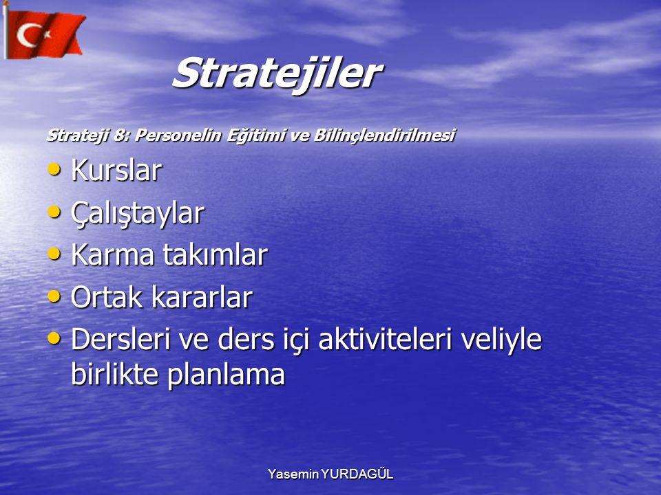 Stratejiler Kurslar Çalıştaylar Karma takımlar Ortak kararlar