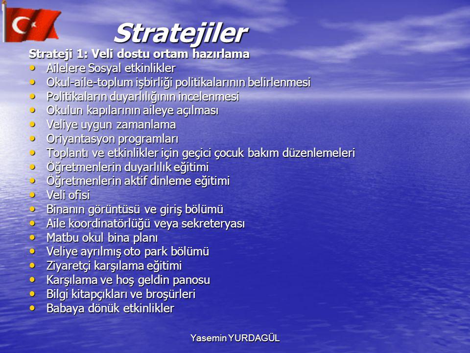 Stratejiler Strateji 1: Veli dostu ortam hazırlama