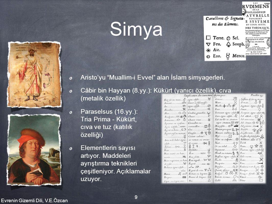 Simya Aristo'yu Muallim-i Evvel alan İslam simyagerleri.